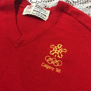 1988 Olympic Games Calgary vintage sweater M